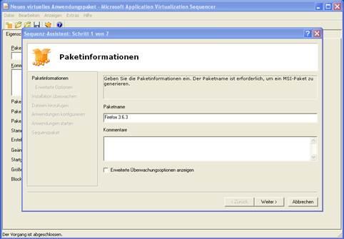 Paket mit Microsoft App-V als MSI erstellen (1)